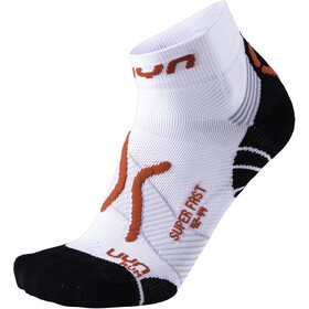 UYN Run Super Fast Calcetines Hombre, white/red